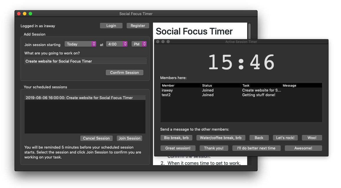 Windows 7 Social Focus Timer 1.0.0(69) full